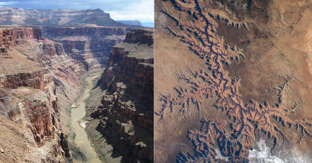 Grand Canyon Aerial vs. Ground (1)
