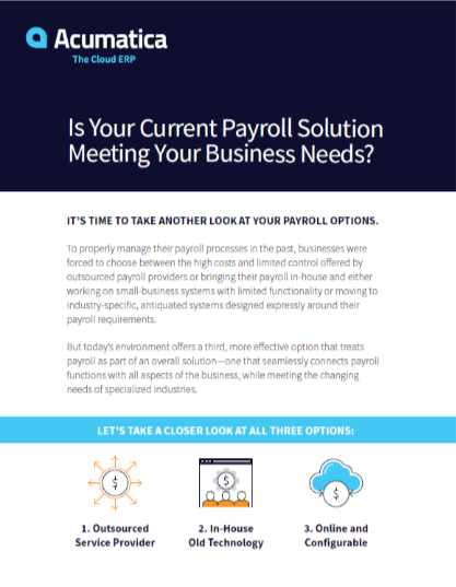 Is Your Current Payroll Solution Meeting Your Business Needs?