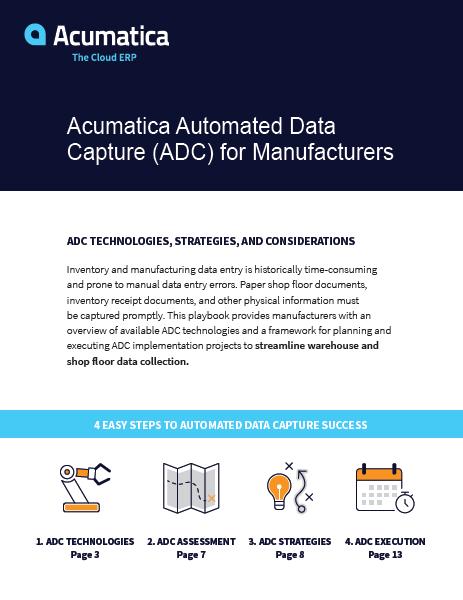 Acumatica Automated Data Capture for Manufacturers