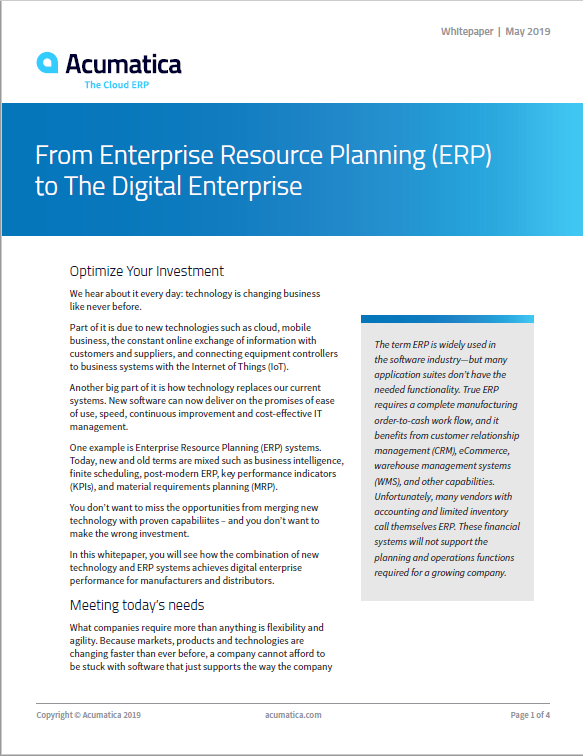 From ERP to The Digital Enterprise