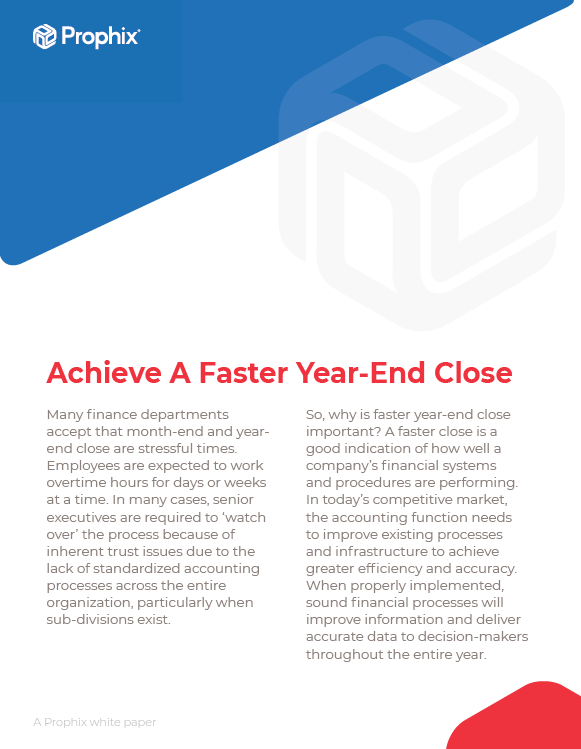 Achieve A Faster Year-End Close