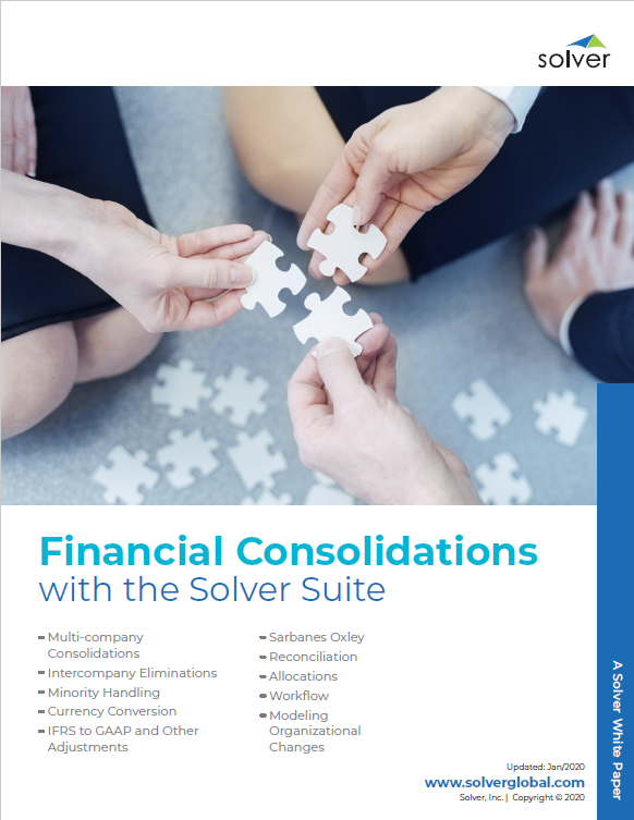 Financial Consolidations with the Solver Suite