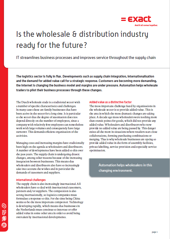 Is the Wholesale & Distribution Industry Ready for the Future?