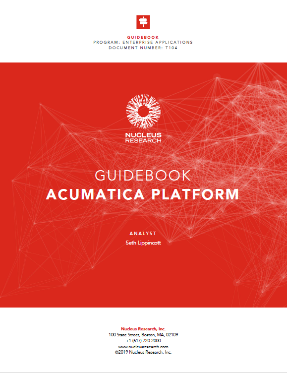 Guidebook to Acumatica Platform